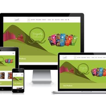 Web design portfolio: Andean Pride