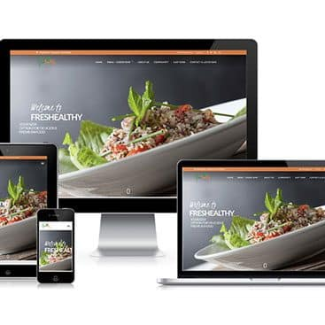 Web design portfolio: Freshealthy Restaurants