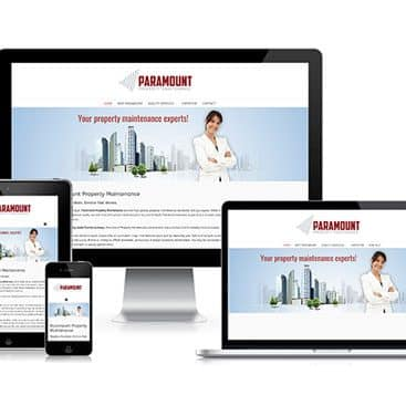 Web design portfolio: Paramount Property Maintenance