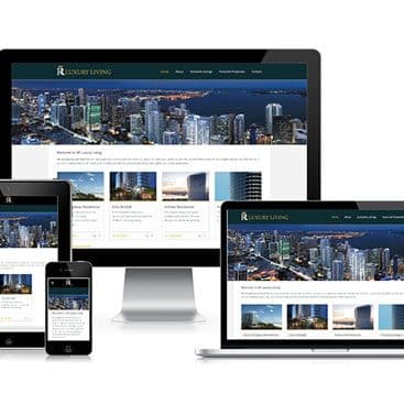 Web design portfolio: RR Luxury Living