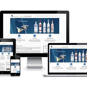 Web design portfolio: Sunny Isles Liquors