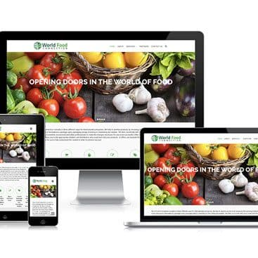 Web design portfolio: World Food Connection