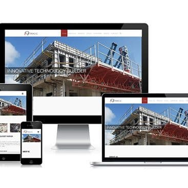 Web design portfolio: i9-Tecc Construction Co.