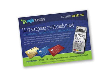 Graphic design portfolio credit card merchant
