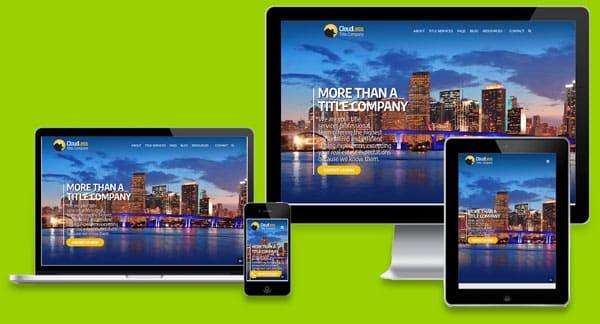 Webdesign Miami free website mockup